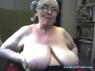 Grandmother with a bunch of attitude and giant tits. Thumb