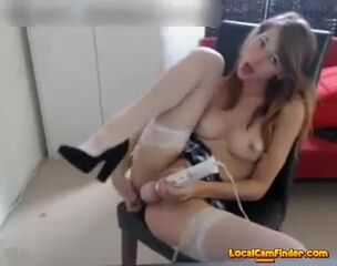18 years classical chick plays with adult playthings Thumb