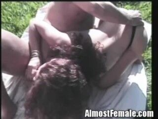 Anjelica waits until this chap pulls the yellow panties aside, baring her ass and pussy and begin th Thumb