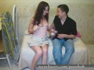 Santa Latina - Small-titted brunette Latina rides a big dick in ###ary fantasy Thumb