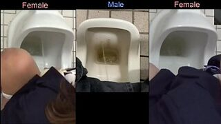 Comparison inbetween gal urinating and masculine peeing - 11 Thumb