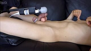 Asian guy&#039_s smooth-shaven manmeat masturbation! I stroked with a replica of my penis! When I ejaculated my love jam flew to my chest! Satiate see Thumb