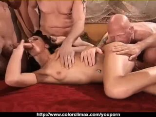 Tyler Stevenz tight pussy boned by 2 cocks Thumb