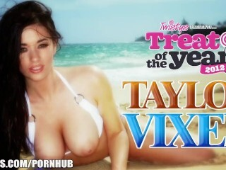 Handle of The Yr Taylor Vixen plays with her big-natural-tits Thumb
