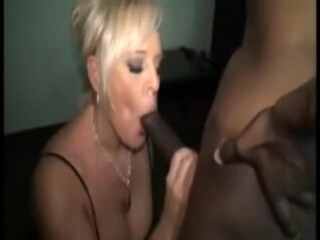 Sexy stripteasing brunette sucking hard erected hairy dick Thumb