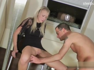 James Brossman plays with sexy ass of Redhead Madlin Moon after Thumb
