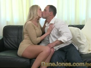 DaneJones Tall clean-shaved blond likes sultry enjoying on the bed Thumb
