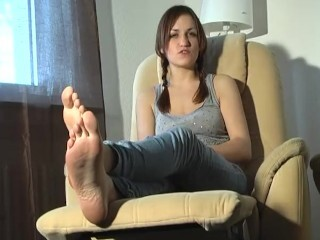 Footfetish-girls - Tickled, Corded and Bootlessly Thumb