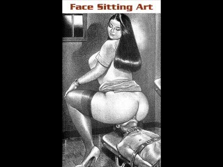 Face sitting Chinese nurses female dominance artwork - GrappleTube Thumb