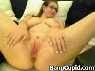 BBW wife enjoying a new cock in front of husband Thumb