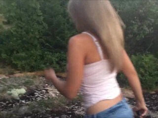 Nice Blond GIVES OUTDOOR BLOWJOB!!! Thumb