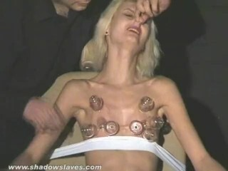 Brutal first-timer domination & submission and injection needle boob torment of strapped blondie slaveslut in stiff Thumb
