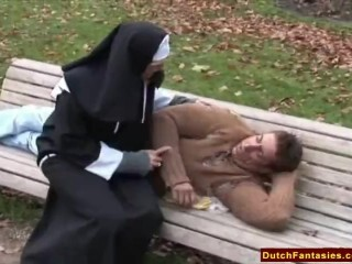 Dutch Nun Pounds Homeless Boy Thumb