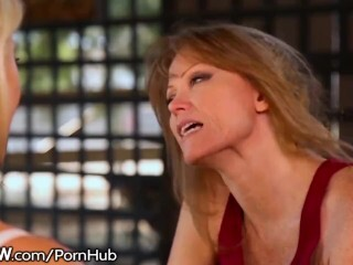 Lezzie Milf Scissoring with Ash Hollywood Thumb