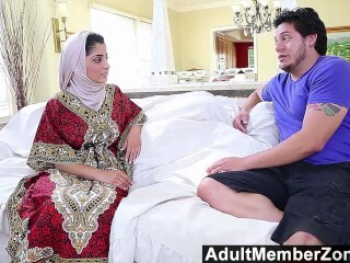AdultMemberZone - Arabic Dame Nadia Ali Tastes Milky Hard-on Thumb