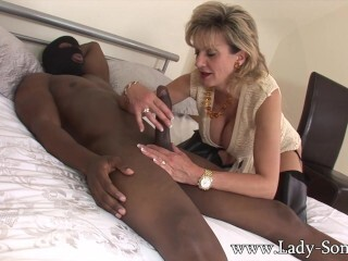Chick Sonia penetrating Big Black Cock in cheating sesh Thumb