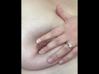 Mrs F lactating her thick edible funbags Thumb