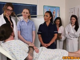 English cfnm nurses milking and deep throating victim Thumb