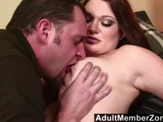 AdultMemberZone - Big-titted sandy-haired wiggles her jugs for a ample blast . Thumb