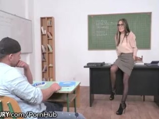 Steaming Russian Tutor Ass-fucked by Schoolgirl Thumb
