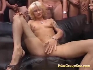 german inked Cougars first-ever gang-fuck Thumb