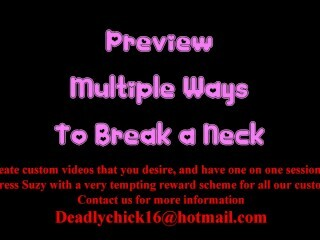 PREVIEW: Numerous Ways To Break a Neck Thumb