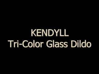 Kendyll Drills Herself With 3 Color Glass Dildo! Thumb