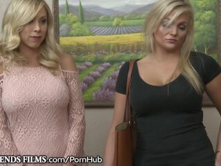 Cougar Katie Morgan Guides Teenie Thru Very First Girly-girl Scissoring Thumb