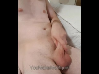 Highly White Pearly Cumminng Wank off Thumb