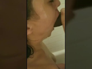 Sultry head in the shower. Gullet so supreme I came so fast! Thumb