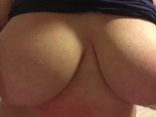 Tinder Female is Stacked! Big Congenital Titties TitFuck! Ginormous Milk Cans Make Me Moan!! Thumb