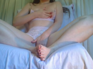 Brilliant fur covered fuckbox and nice soles (buttplug, vibrator, dildo, real orgasm) Thumb