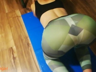 Brilliant Teenie in Yoga Trousers Takes Firm Doggie-style and Facial Cumshot after Exercise Thumb