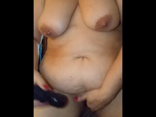 Plus-size Cougar Railing my hitachi and cumming. Thumb