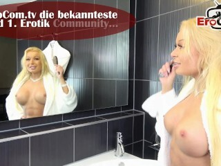 Deutsches Rollenspiel - scorching light-haired office cougar with glasses torn up by big black cock Thumb