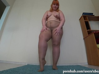 killer Plus-size nylon stocking and tights onanism and humid vagina Thumb