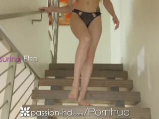 PASSION-HD Kitchen make-out with platinum-blonde Elsa Jean Thumb