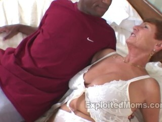 Gilf gets a XXL Yam-sized Dark-hued Rod in Bi-racial Mature Vid Thumb