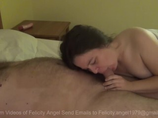 Felicity Angel Gives BJ And Guzzles Every Glob Of Jizm Thumb