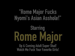 Dark-hued Bull Rome Major Wedges Nyomi Star's Chinese Asshole! Thumb