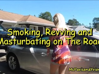 Smoking, Revving and Wanking On The Road Thumb