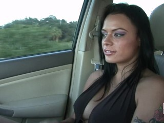 Shay Lynn Thumbs Her Cunt And Sphincter In My Truck Thumb