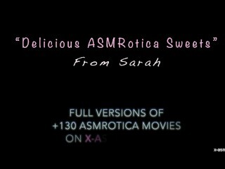 Spectacular Sarah ASMR toying with sweets  ASMRotica Thumb